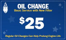 $25 Basic Oil Change